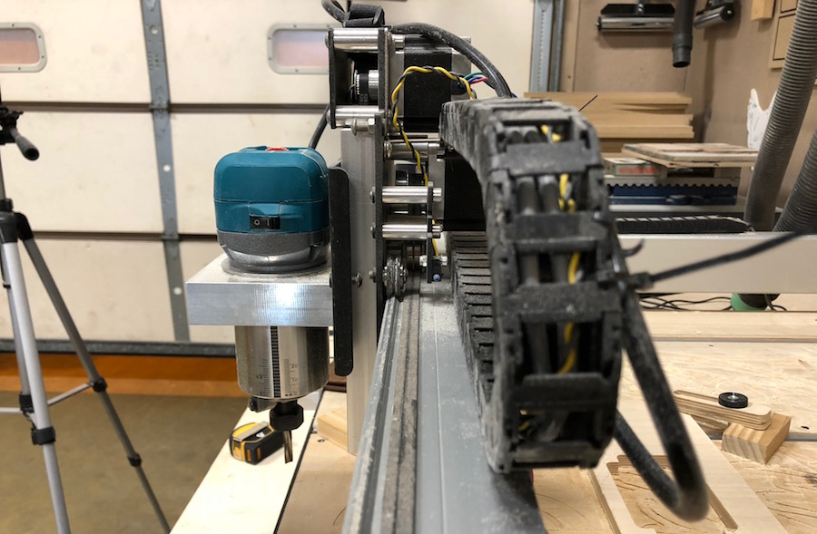drag chain perpendicular alignment to x axis rail