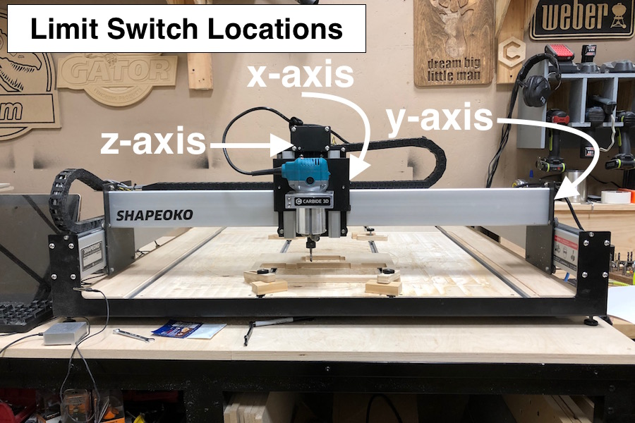 x axis limit switch orientation