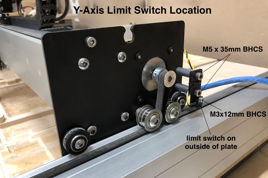 y axis limit switch location