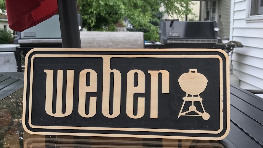 Finished Weber Sign